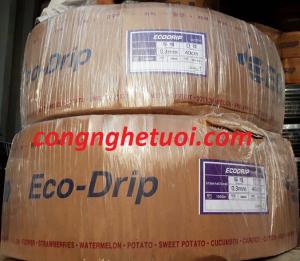 Ống tưới nhỏ giọt Eco-Drip 16mm khoảng cách lỗ: 15cm-20cm-30cm