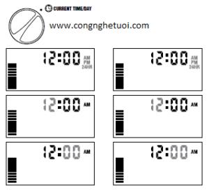 Màn hình hiển thị tại mục Current Time/Day