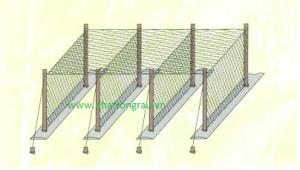 Mô hình căng lưới giàn leo hình chữ U