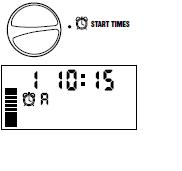 Màn hình hiển thị trên mục START TIME: 1- Là lần phun thứ nhất A- là đang cài đặt tại chương trình A